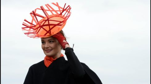 Striking look: Martha Lynn from Roscommon at Fairyhouse. Photograph: Brenda Fitzsimons/The Irish Times