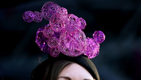 So who's that below? One of the best dressed contestants during Ladies Day at Ladbrokes Irish Grand National Day at Fairyhouse, that's who. Photograph: Julien Behal/PA Wire