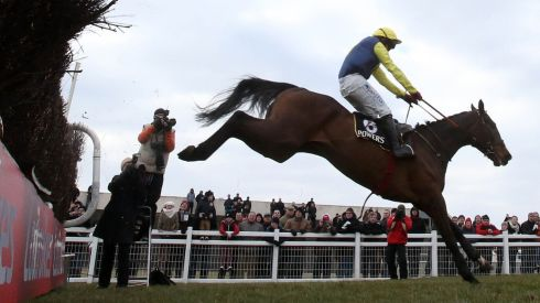 Realt Mor ridden by Davey Condon to win the Powers Gold Cup during the Easter festival. Photograph: Niall Carson/PA Wire.