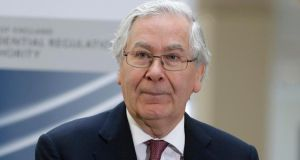 Bank of England governor Mervyn King at the opening of the Prudential Regulation Authority. Photograph: Lefteris Pitarakis/Reuters