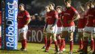 Dejected Munster players after conceding the final try against Glasgow in their Pro 12 clash last Friday night. They need to lift themselves for their clash against Harlequins.