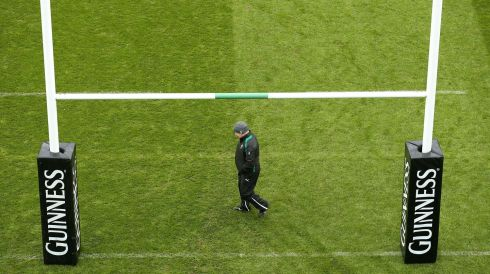 Testing the ground: Declan Kidney at the Aviva Stadium in Novemer 2012. Photograph: Billy Stickland/Inpho