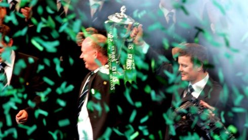 Power and prestige: Bringing home the Six Nations trophy to Dublin. Photograph: Eric Luke/The Irish Times