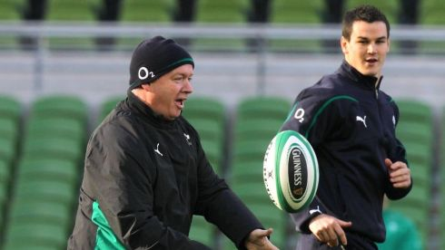 The Captain's Run at the Aviva Stadium, Dublin in November 2010. Photograph: Billy Stickland/Inpho