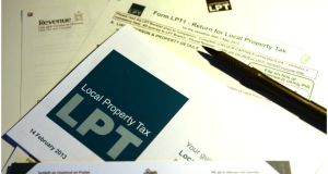The Local Property Tax forms sent out by Revenue Photograph: Bryan O'Brien/The Irish Times