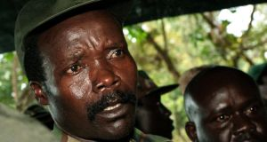 Leader of the Lord's Resistance Army Joseph Kony speaks to journalists in southern Sudan in 2006. Photograph: Stuart Price/Reuters