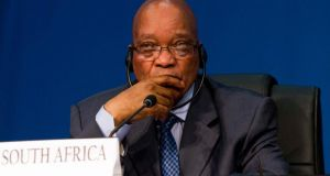 South Africa's President Jacob Zuma at the recent Brics Summit in Durban. Photograph: Rogan Ward/Reuters