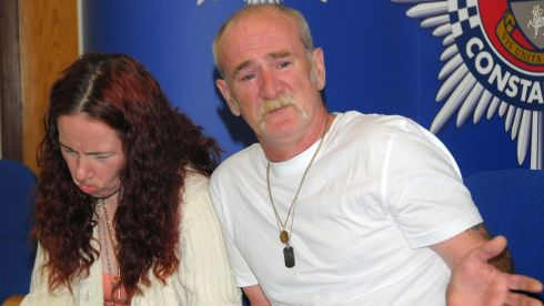 Mick Philpott and his wife Mairead making an appeal to the media at Derby Conference Centre, Derby, regarding the perpetrators of  a fire at their house on May 11th, 2012, in which six of their children died. Philpott has been jailed for life with a minimum term of 15 years at Nottingham Crown Court after being found guilty of the children's manslaughter. His wife was jailed for 17 years after also being found guilty of the killings. Photograph: Rui Vieira/PA Wire