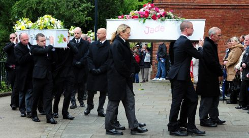 Coffins bearing the remains of the Philpott children arrive at St Mary's Catholic Church on Bridgegate, Derby on June 2nd last year. Photograph: Rui Vieira/PA Wire