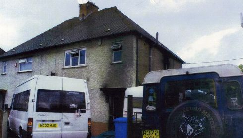 This image shows the upstairs bedrooms in which the children died. Photograph: CPS/PA Wire