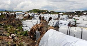 The Nzolo refugee camp in Democratic Republic of Congo. Photograph: Iggy Roberts/Crown Copyright via Getty Images