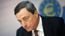 Stock retreated after European Central Bank president Mario Draghi said economic recovery in the euro area remains subject to downside risks. Photograph: Lisi Niesner/Reuters