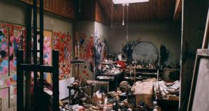 Francis Bacon's London studio, now on permanent exhibition at Hugh Lane Gallery, Dublin. Photograph: Hugh Lane Gallery