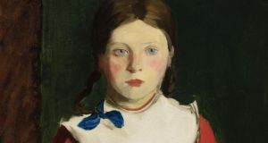 Little Irish Girl by Robert Henri  an oil-on-canvas measuring 24 by 20 inches, has an estimate of USD  ($70,000-$100,000) painted on Achill Island in 1913, for sale at Sotheby's New York