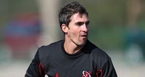 Ruan Pienaar training with  Ulster at Portora Royal School in Enniskillen, Co Fermanagh,  ahead of their Heineken Cup quarter-final against Saracens. Photograph: Pacemaker