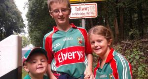 Three of Daryl Walshe's children, Leo (10), Roslyn (8) and Karsten (4)
