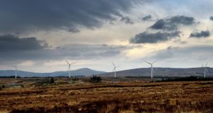Corkermore wind farm  in Dunkineely, Co Donegal. Photograph: David Sleator