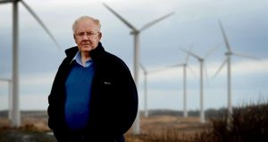 John Gillespie at  Lough Derryduff windfarm, near Glenties, in Co Donegal. Photograph: David Sleator