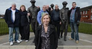 Linda Ervine and the rest of the Irish-language class pictured in east Belfast. Photograph: Charles McQuillan/Pacemaker