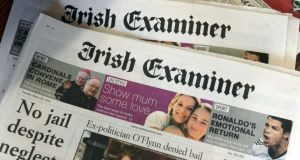 Webprint had a contract to print the Irish Examiner and other Thomas Crosbie Holdings newspapers until the company entered receivership last month.  Photograph: Eric Luke