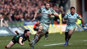 Leicester's Tom Croft showing a return to the form of 2009