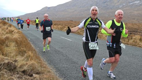 Athletes taking part in the Connemara International Marathon.  Photograph: Joe O'Shaughnessy.