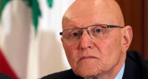 Tammam Salam has been tasked with forming a government of national unity in Lebanon. Photograph: Mohamed Azakir/Reuters