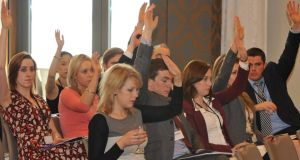 Junior doctors vote against the Croke Park 2 at the IMO conference in the Hotel Europe, Killarney at the weekend.Picture by Don MacMonagle