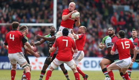 Munster's Paul O'Connell claims a high ball. Photograph: David Davies/PA Wire