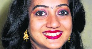 Savita Halappanavar, who was 17 weeks pregnant when she died after suffering a miscarriage and septicaemia last year. Photograph: The Irish Times/PA Wire