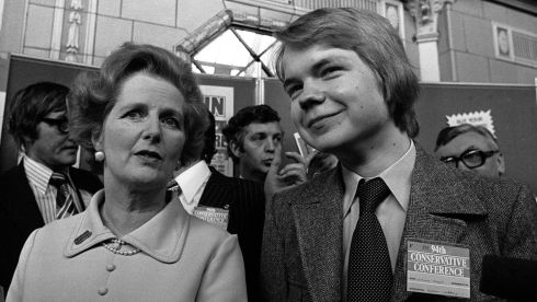 Margaret Thatcher with a 16-year-old William Hague in Blackpool. Photograph: PA Wire