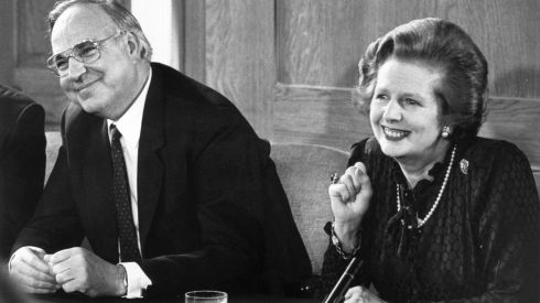 Thatcher and her German counterpart Helmut Kohl in 1983. Photograph: Keystone/Getty Images