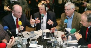 "Lisbon treaty referendum debate on RTÉ's Today with Pat Kenny programme in 2009. ""Broadcasting is still a powerful influence, and news and current affairs have lost none of their capacity to engage and serve the audience."" Photograph: Matt Kavanagh"