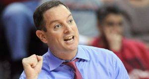 Rutgers coach Mike Rice: used homophnobic slurs when abusing his players. Photograph: Reuters