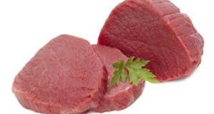 Beef: raw meat
