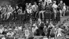 Miners leader Arthur Scargill, president of the NUM, addressing a rally in Barnsley in 1984.