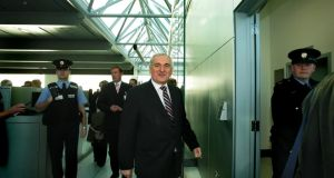 Taoiseach Bertie Ahern moments after formally opening Dublin Airport's new Pier D boarding gate facility this morning, Today 12th November, 2007. Construction was on time and on budget. Dublin Airport, Dublin.