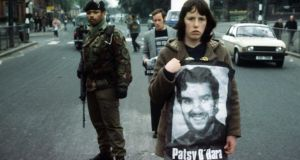 Hunger strike demo on the Falls Road, Belfast, 1981. Photograph; Pacemaker