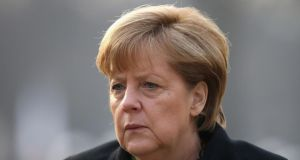 "German chancellor Angela Merkel said Margaret Thatcher would be remembered not as a ""female politician"" but as someone who blazed a trail for women in politics. Photograph: Sean Gallup/Getty Images"