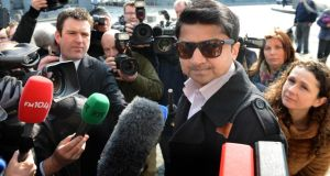 Praveen Halappanavar, the husband of the late Savita Halappanavar, at her inquest in Galway yesterday. Photograph: Eric Luke