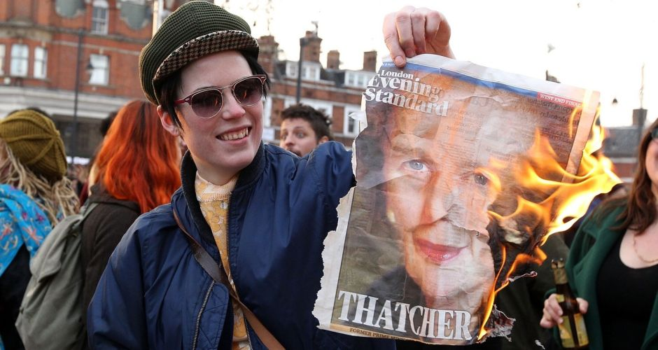 Images from Thatcher street parties
