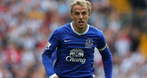 Phil Neville will leave Everton when the season ends. Photograph: Nick Potts/PA