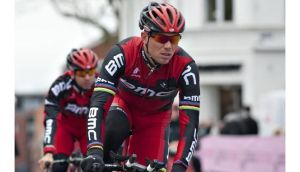 Thor Hushovd from the Team BMC tries out the route of Giro d'Italia 2012 in Herningon last May. Photograph:AFP