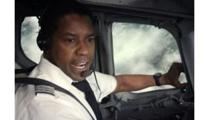 Denzel Washington is nominated for  his role as an alcoholic pilot in 'Flight'