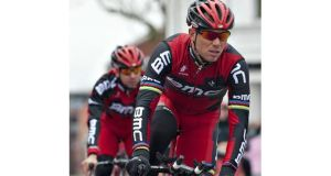 Thor Hushovd in front of Team BMC trying out the route of Giro d?Italia in Herning, Denmark last year.  The race will begin in Ireland next year, organisers confirmed today. Photograph: AFP Photo/Getty Images