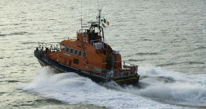 An RNLI lifeboat rescued five fishermen off the coast of West Cork overnight. Photograph: Frank Miller/The Irish Times