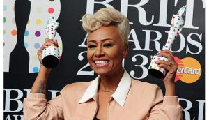 Emelie Sande with her British Female and Album of the Year awards in the press room at the 2013 Brit Awards at the O2 Arena, London last night. Photograph: PA Wire