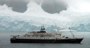 The MV Lyubov Orlova ? once used by the Soviet Union for polar cruises - was being towed from Canada to a scrapyard in the Caribbean in January when a cable snapped setting it adrift in international waters.