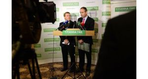 Fianna Fail leader Micheal Martin's party has seen support grow by 5 per centage points in the past month.Photograph: Dara Mac Donaill / The Irish Times