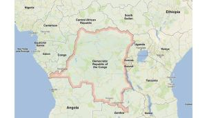 The Democratic Republic of Congo's army is fighting the M23 rebels in a conflict has dragged Congo's eastern region back into war and displaced an estimated half a million people. Image: Google Maps